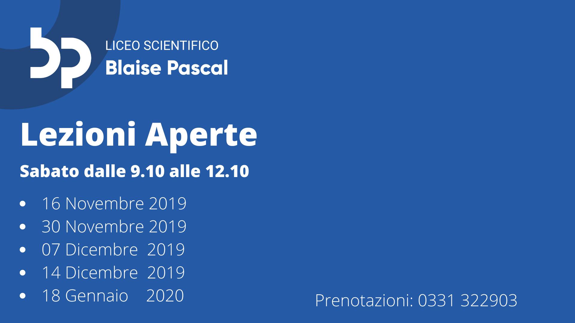 Lezioni Aperte Pascal